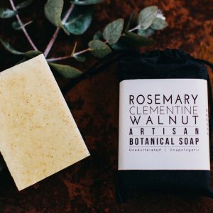 Artisan Botanical Soap – Rosemary, Clementine, Walnut