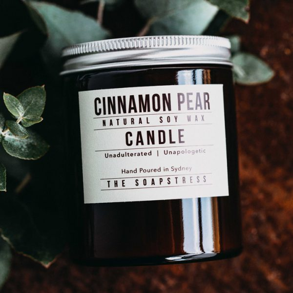Amber Soy Candle – Cinnamon Pear