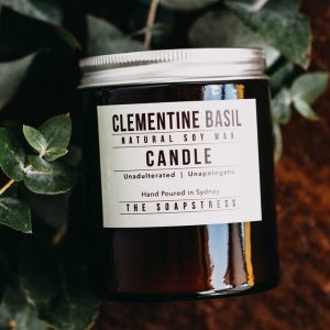 Amber Soy Candle - Clementine & Basil