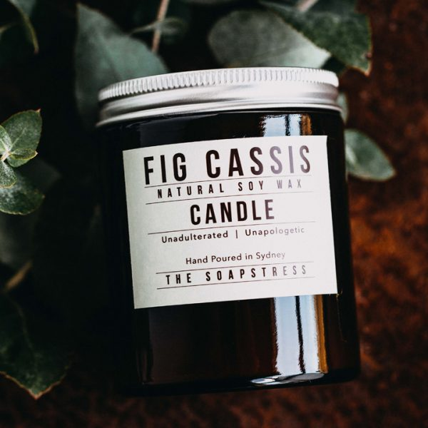 Amber Soy Candle - Fig Cassis