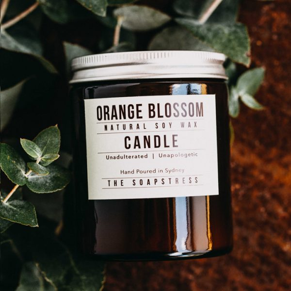 Amber Soy Candle - Orange Blossom