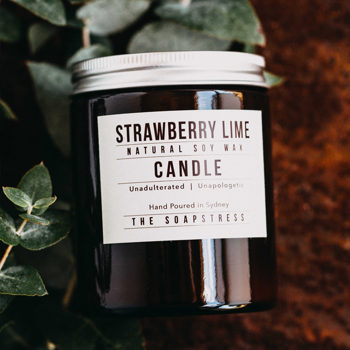 Amber Soy Candle – Strawberry Lime